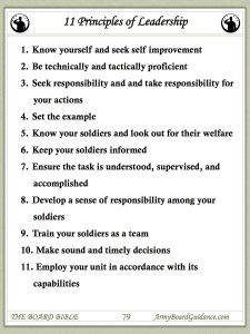 The 11 Principles of Leadership - Army Board Guidance