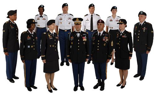 Marlow white army dress uniform